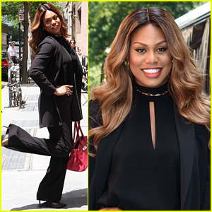 Laverne Cox Strikes a Pose Outside of ABC's 'The View'