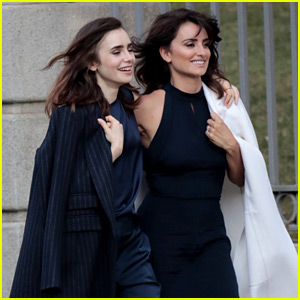 Lily Collins & Penelope Cruz Film for Lancome Together!