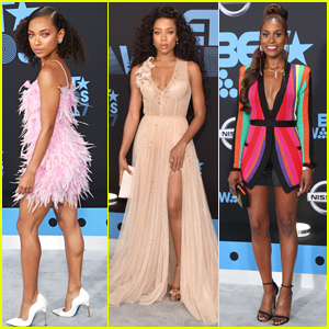 Logan Browning, Lil Mama, & Issa Rae Go Glam for BET Awards 2017