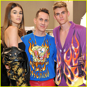 Presley Gerber Graduates High School, Walks in Moschino Show