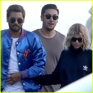 Scott Disick & Sofia Richie Get Close After Dinner Outing