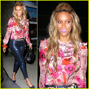 Tyra Banks is a Colorful Vision at Made LA Fashion Show