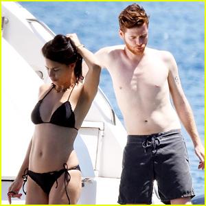 Adriana Lima & Boyfriend Metin Hara Relax on a Yacht in Turkey
