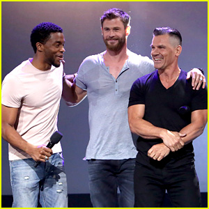 'Avengers' Studs Turn D23 Into a Tight Shirt Parade! (Photos)