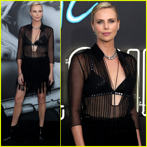 Charlize Theron Goes Sheer For 'Atomic Blonde' LA Premiere