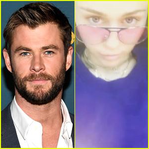 Chris Hemsworth Got Miley Cyrus Sunglasses & She Loves Them