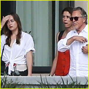 Dakota Johnson Hangs Out with Her Dad Don in Savannah