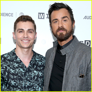 Dave Franco & Justin Theroux Promote Their New Film 'Lego Ninjago' at Comic-Con