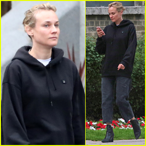 Diane Kruger Goes Makeup-Free on Set in Canada