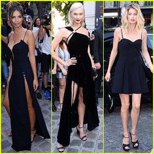 Emily Ratajkowski, Karlie Kloss, & Doutzen Kroes Show Some Skin at Vogue Party 2017