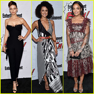 Angela Sarafyan, Nathalie Emmanuel & Tessa Thompson Keep the Party Going at EW's Comic-Con Bash!