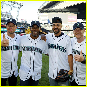 'Grey's Anatomy' Men Throw First Pitch at Mariners Game (Video)