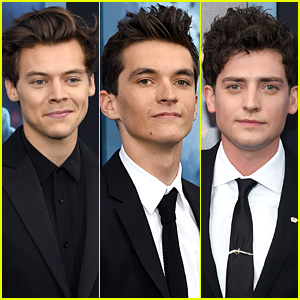 Harry Styles, Fionn Whitehead, & Aneurin Barnard Premiere 'Dunkirk' in New York!