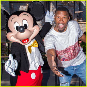 Jamie Foxx Celebrates July Fourth Weekend at Disneyland!