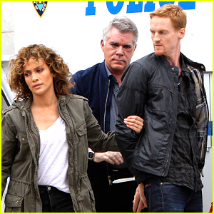 Jennifer Lopez Films an Arrest Scene on Set of 'Shades of Blue'