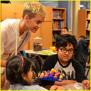 Katy Perry Visits Boys & Girls Club Ahead of 'Witness' Tour