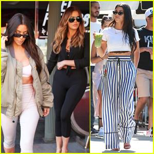 Kim & Khloe Kardashian Enjoy Lunch Together in Los Angeles