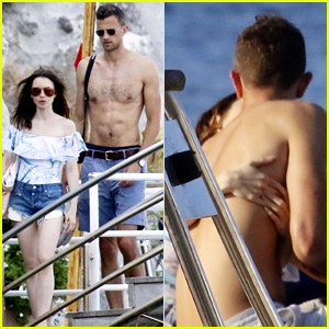 Lily Collins Kisses Jason Vahn During PDA-Filled Trip to Italy!
