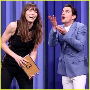 Jessica Biel & Matt Bomer Battle It Out in Charades on 'Fallon'