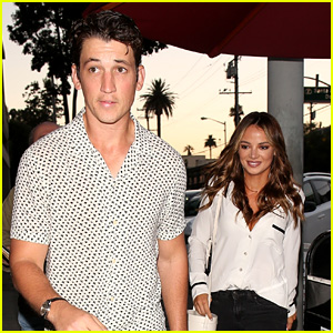 Miles Teller Enjoys a Date Night with Girlfriend Keleigh Sperry