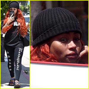 Blac Chyna Hides Her Face Behind Her Phone