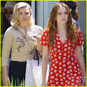 BFFs Chloe Moretz & Zoey Deutch Hang Out at Jennifer Klein's Day of Indulgence Party!
