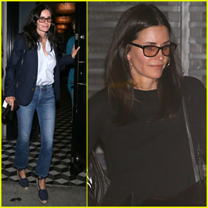 Courteney Cox Grabs Dinner with Friends at Craig's