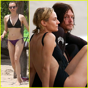 Diane Kruger & Norman Reedus Hit the Beach in Costa Rica!