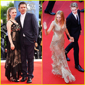 Ethan Hawke Gets Support from Ex Uma Thurman & Son Levon at 'First Reformed' Venice Premiere!