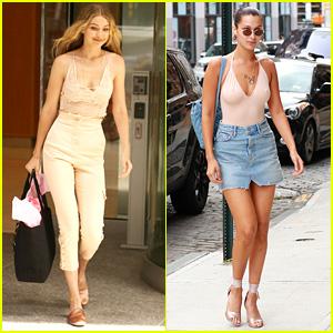 Gigi & Bella Hadid Are Runway Ready at Victoria's Secret Fittings