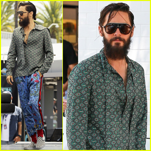 Jared Leto Mixes Patterns While Promoting 'Walk on Water'
