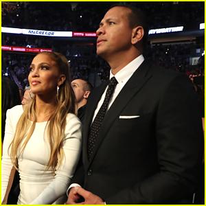 Jennifer Lopez & Alex Rodriguez Make One Stylish Couple at Mayweather vs. McGregor Fight!