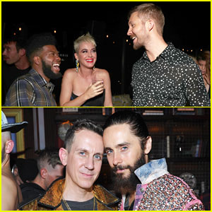 Katy Perry Celebrates Big Night with Calvin Harris & Jared Leto at VMAs 2017 After Party!