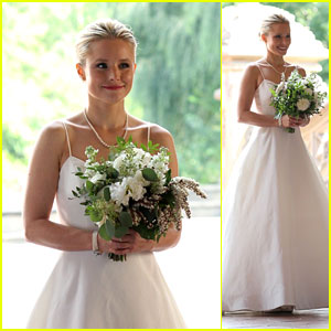 Kristen Bell Wears a Wedding Dress While Filming 'Like Father' in Central Park!