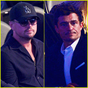 Leonardo DiCaprio Meets Up with Orlando Bloom at Mayweather vs McGregor