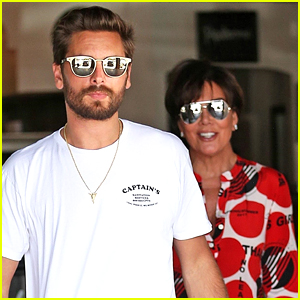 Scott Disick & Kris Jenner Grab Lunch While Filming 'KUWTK'