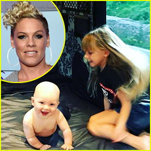 See Pink's Photos of Her Adorable Kids Willow & Jameson!
