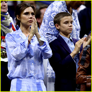 Victoria Beckham Takes Her Son Romeo to the U.S. Open!
