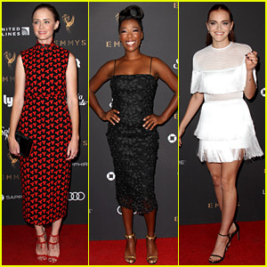 Emmy Winner Alexis Bledel Joins 'Handmaid's Tale' Co-Stars at Pre-Emmys Event!