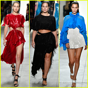 Ashley Graham Joins Gigi & Bella Hadid on the Prabal Gurung Runway
