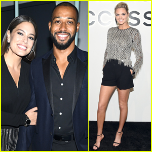 Ashley Graham & Husband Justin Ervin Join Kate Upton at Michael Kors Event