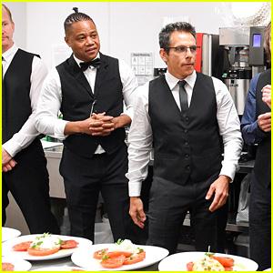 Ben Stiller & Cuba Cooding Jr. Serve Guests at TIFF Gala