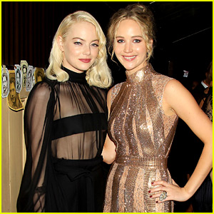BFFs Jennifer Lawrence & Emma Stone Reunite at 'mother!' Premiere Party!
