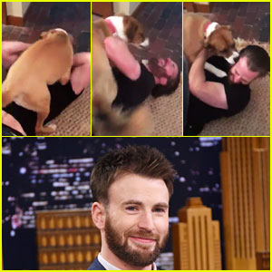 Chris Evans & Dog Dodger Reunite After 10 Weeks Apart in Cute Video - Watch Now!