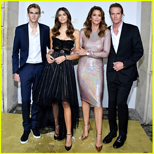 Cindy Crawford & Rande Gerber Join Kids Kaia & Presley at 'Her Time' Omega Photocall