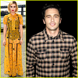 James Franco & Emma Roberts Support Coach's NYFW Show!