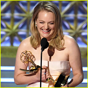 Elisabeth Moss Drops Two F-Bombs During Emmys Acceptance Speech! (Video)