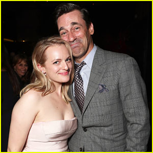 Elisabeth Moss & Jon Hamm Have Mini 'Mad Men' Reunion at Emmys After Party!