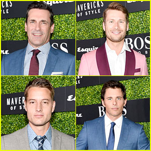 Jon Hamm, Justin Hartley, Glen Powell, & James Marsden Attend Esquire's 'Mavericks of Style' Event!