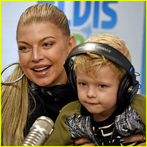 Fergie Brings Son Axl to Promote 'Double Dutchess'!